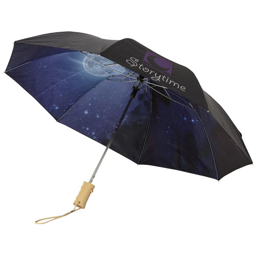 """2-częściowy automatyczny parasol Clear Night Sky o średnicy 21"""" zdj 2"""